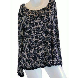 Nina Leonard Lined Floral Top Size XL - NEW!!!